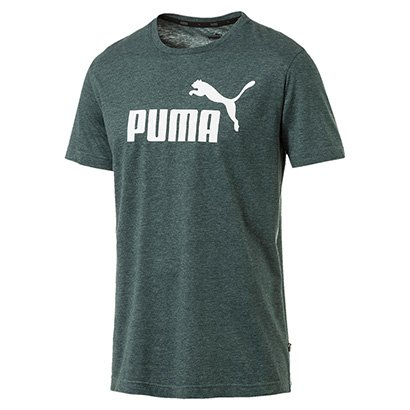 Camiseta Puma Ess+ Heather Masculina