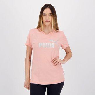 Camiseta Puma Essentials Metallic Logo Feminina