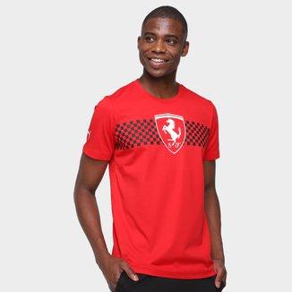 Camiseta Puma Ferrari Race Checkered Flag Masculina