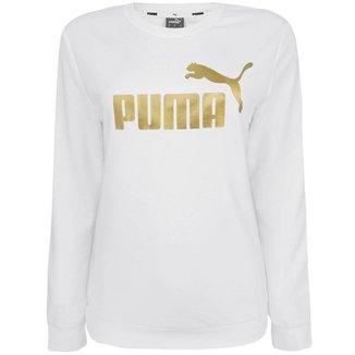 Camiseta Puma Metallic Manga Longa Feminina