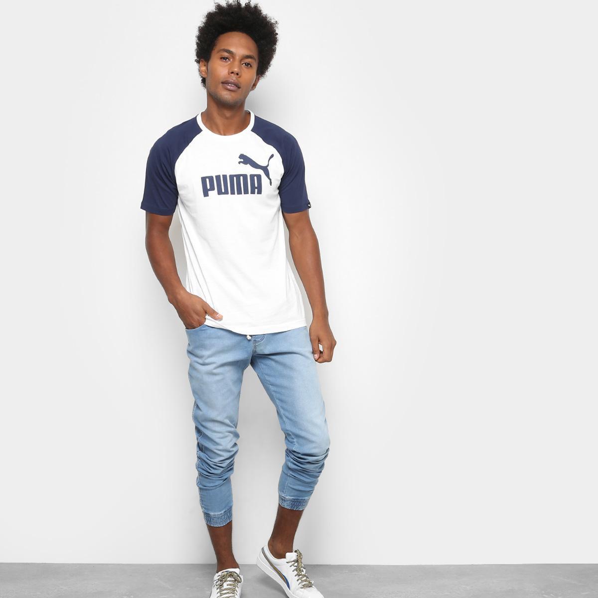 728dca8c4e Camiseta Puma No.1 Logo Raglan Masculina - Off White - Compre Agora ...