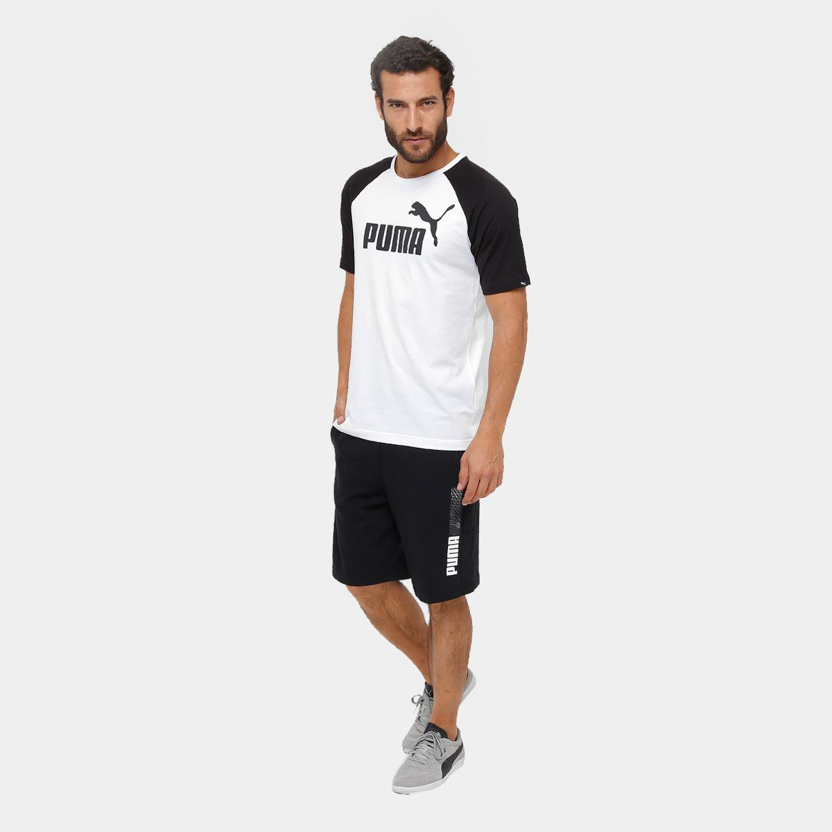 69d999a43a Camiseta Puma No.1 Logo Raglan Masculina - Branco - Compre Agora ...