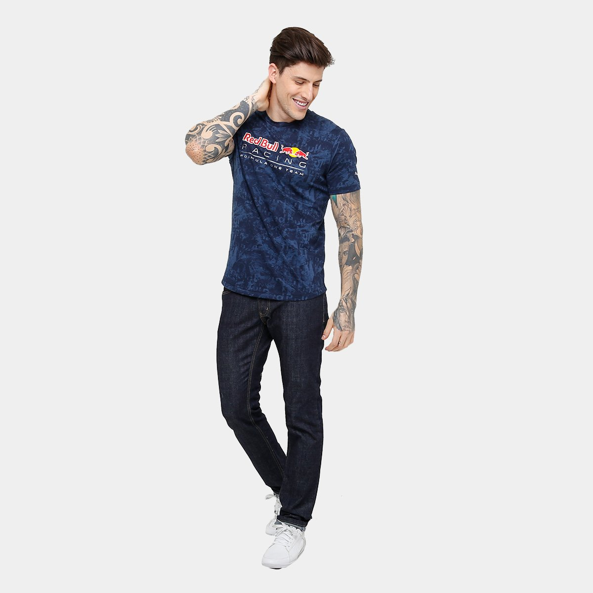 Camiseta Puma Red Bull Racing Allover Masculina - Compre Agora  560e688db40