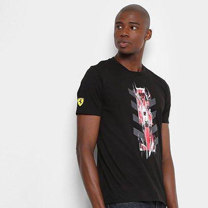 309e0d348f Camiseta Puma Scuderia Ferrari Night Cat Graphic Masculina - Compre Agora