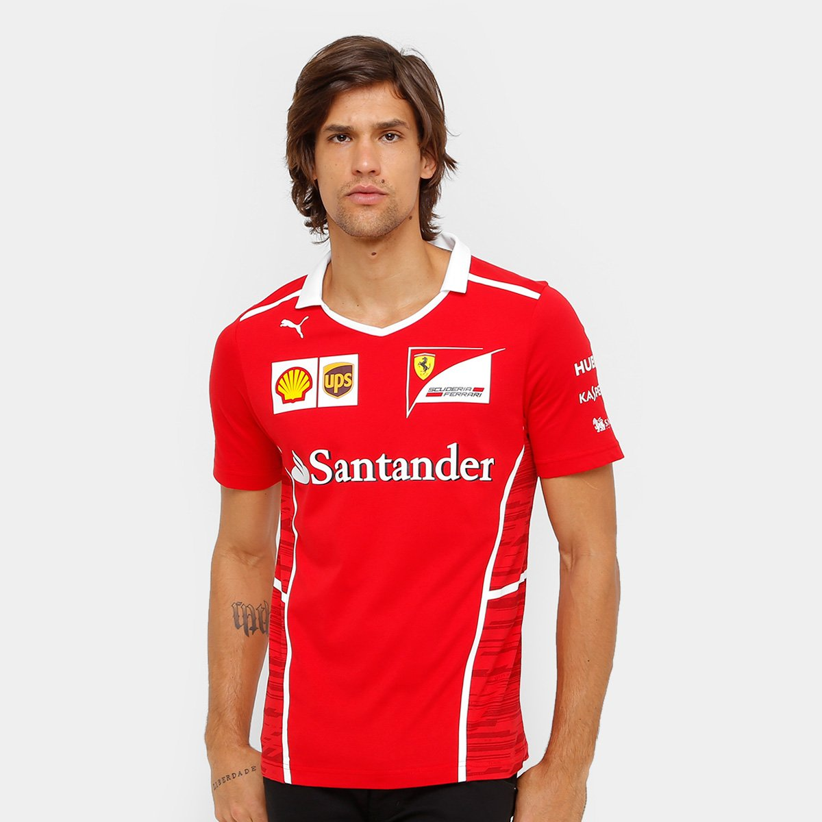 Camiseta Puma Scuderia Ferrari Team Masculina - Vermelho