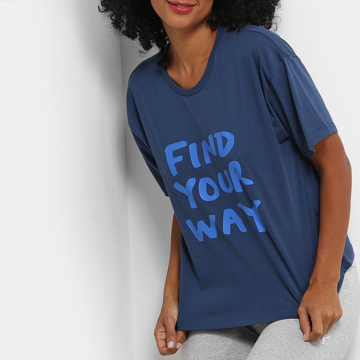 Camiseta Puma X Shantell Martin Feminina - Marinho e Azul - Compre ... 14690822f00ef