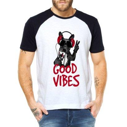 Camiseta Raglan Criativa Urbana Dog Bulldog Cachorro Iphone