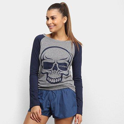 Camiseta Raglan KVRA Full Skull Feminina