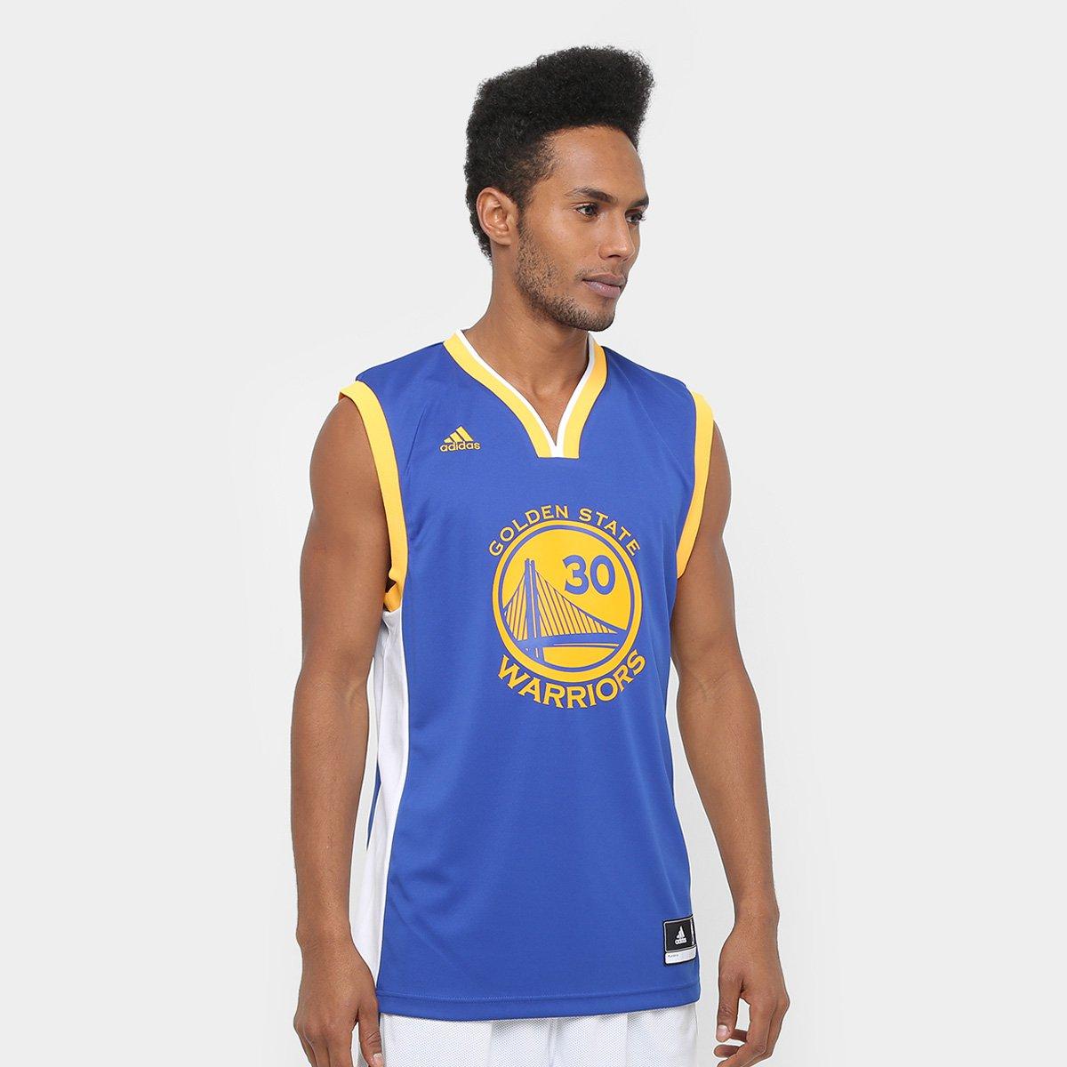7a214b633 Camiseta Regata Adidas NBA Golden State Warriors Curry Masculina - Compre  Agora