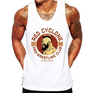 Camiseta Regata Criativa Urbana Fitness Red Cyclone