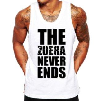 Camiseta Regata Criativa Urbana Frases Engraçadas Zuera Never Ends