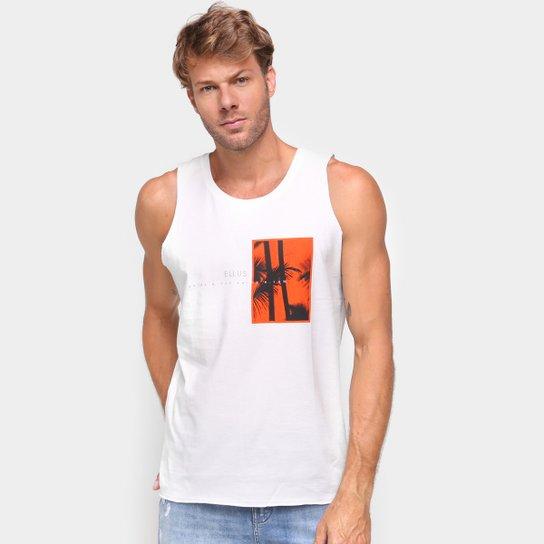 Camiseta Regata Ellus Coqueiro Masculina - Off White