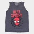 Camiseta Regata Infantil Marvel Hey Spidey Masculina