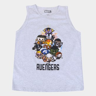 Camiseta Regata Infantil Marvel Mini Heroes Masculina
