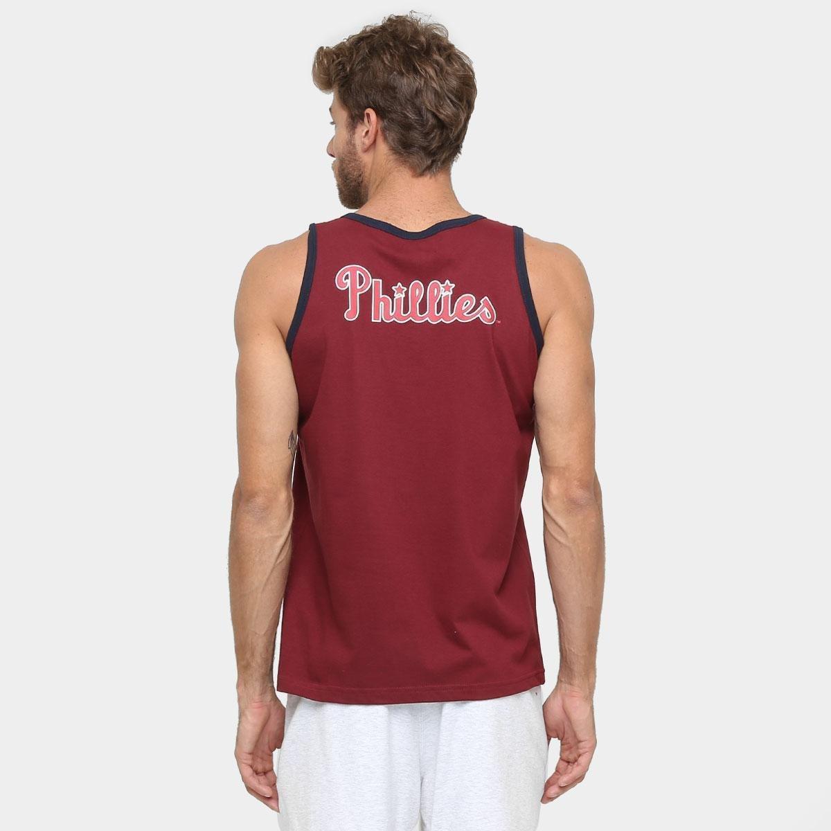 ... Camiseta Regata New Era MLB Double Stripe 3 Philadelphia Philies ... 285828b6a48