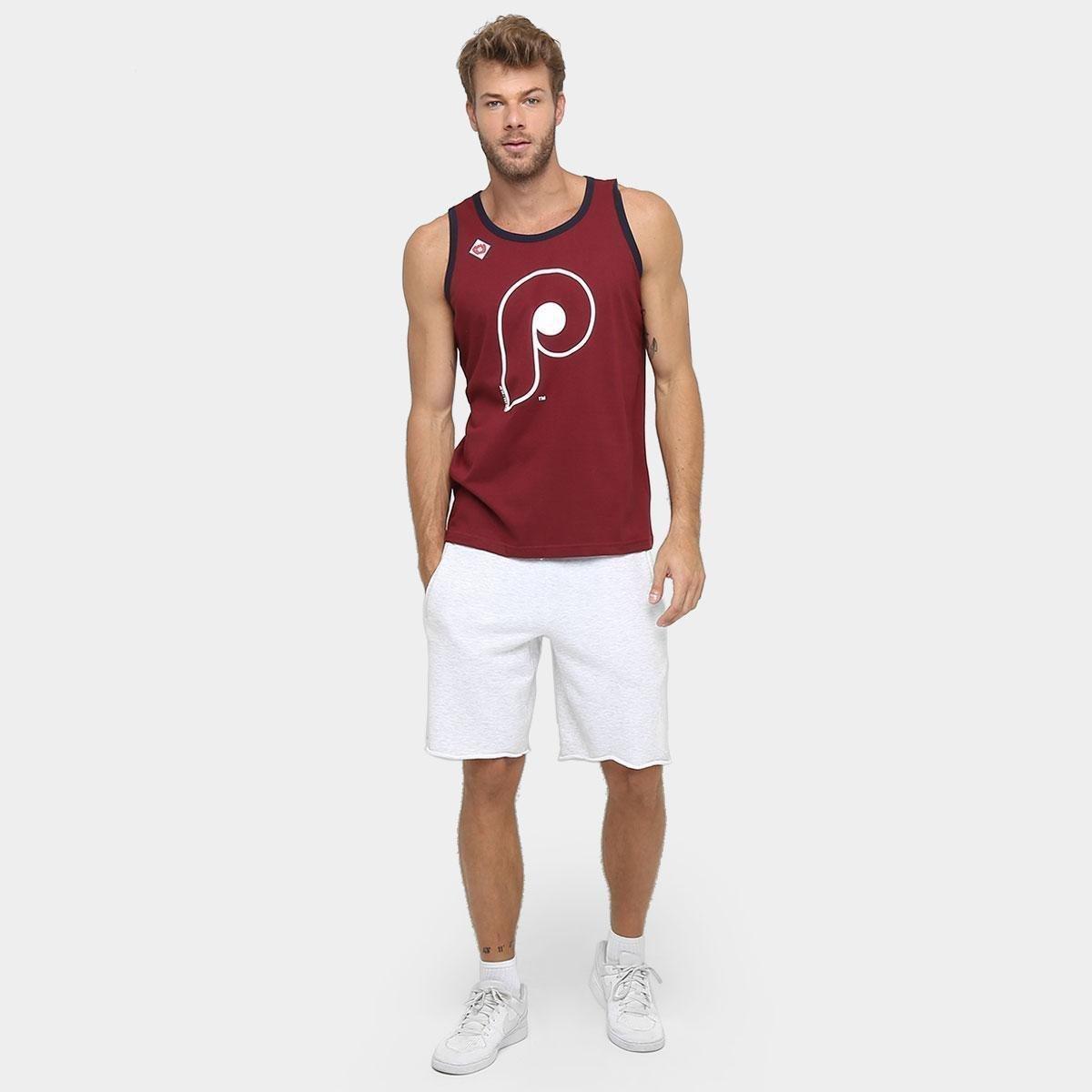 Camiseta Regata New Era MLB Double Stripe 3 Philadelphia Philies ... 769049cab27