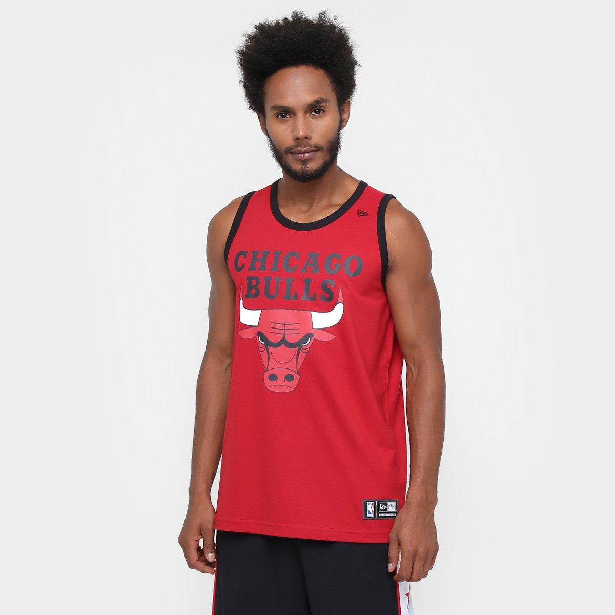 Camiseta Regata New Era NBA Basic Logo Chicago Bulls - Vermelho - Compre  Agora  b4a2b3c15e4
