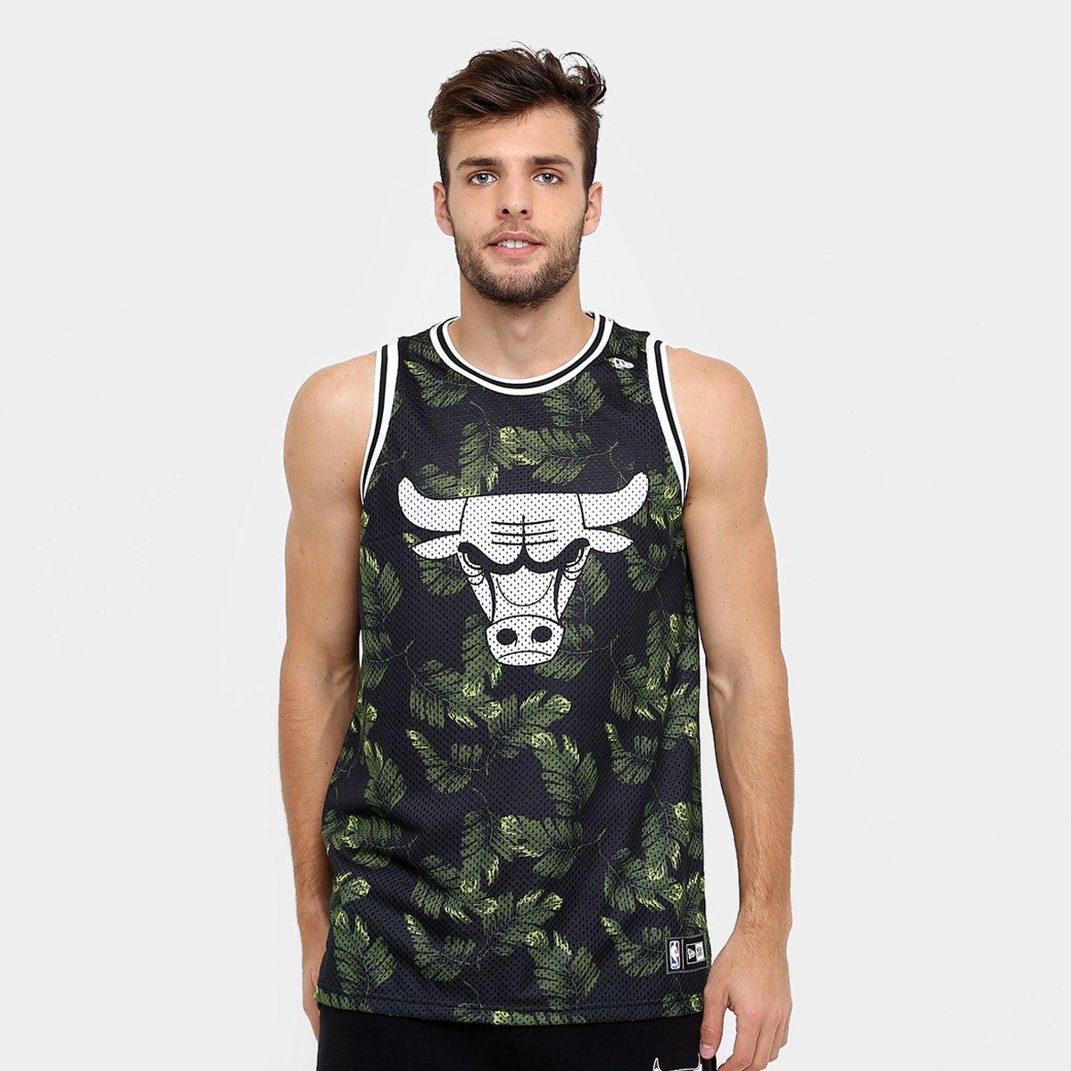 Camiseta Regata New Era NBA Jersey Palm Camo Chicago Bulls - Compre ... cec9c5cef29