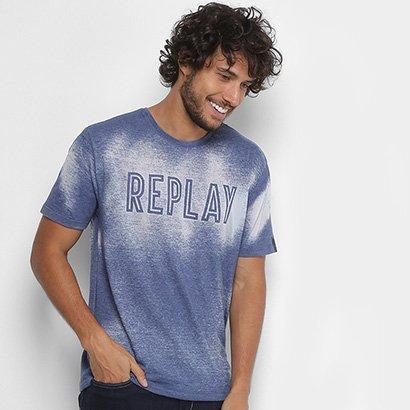 Camiseta Replay Devorê Masculina