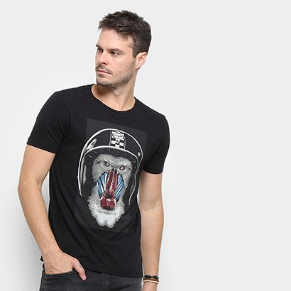 Camiseta Replay Monkey Cap Masculina