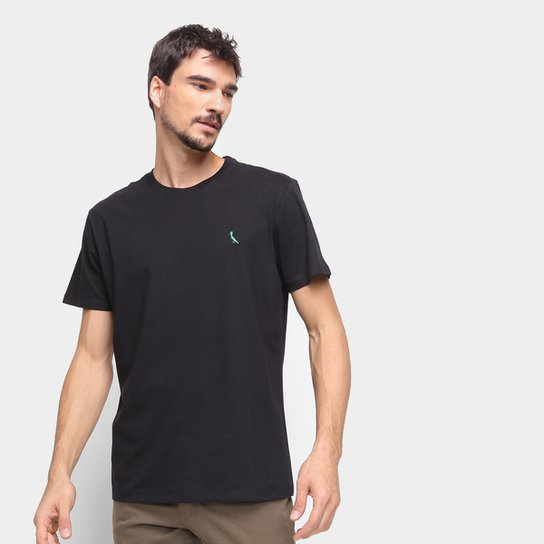 Camiseta Reserva Básica Masculina - Preto