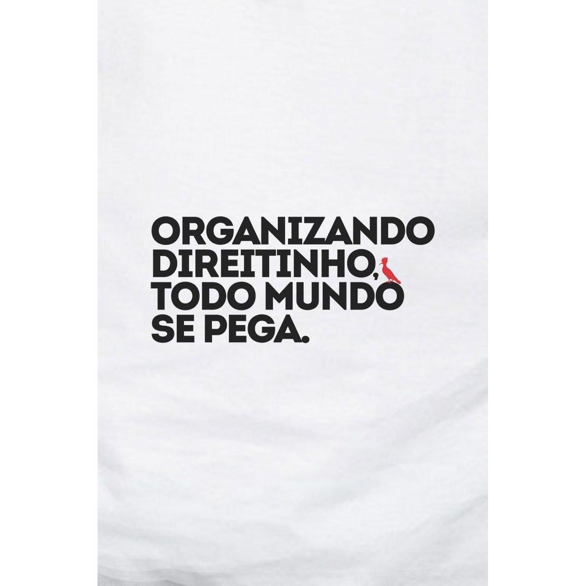Camiseta Reserva Carnaval Organizando Direitinho Masculina - Branco