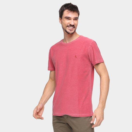 Camiseta Reserva Flamê Estonado Masculina - Bordô