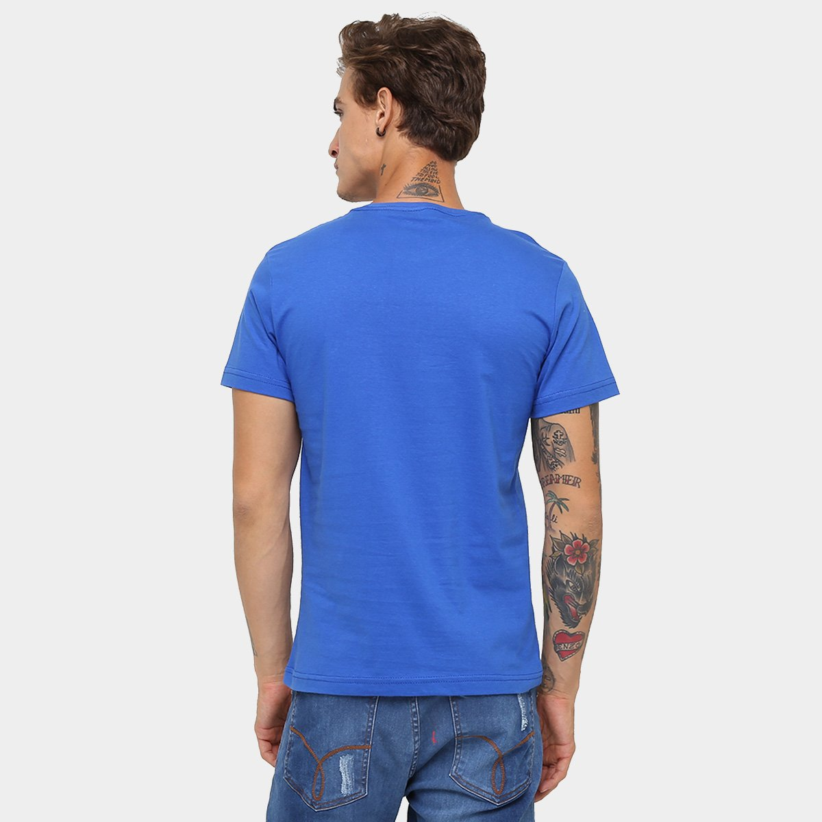 Camiseta RG 518 Básica Bordado - Azul Royal