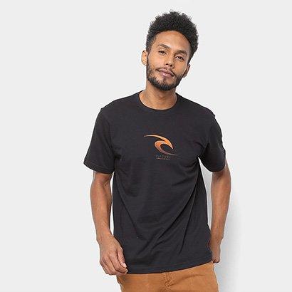 Camiseta Rip Curl Front Line Masculina - Masculino - Preto - COD. D68 - 2243 - 006