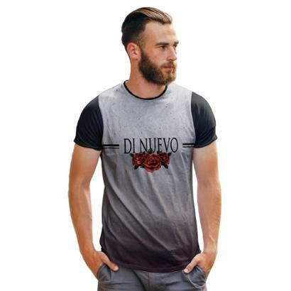Camiseta Rosas Di Nuevo Logo Simples Masculina