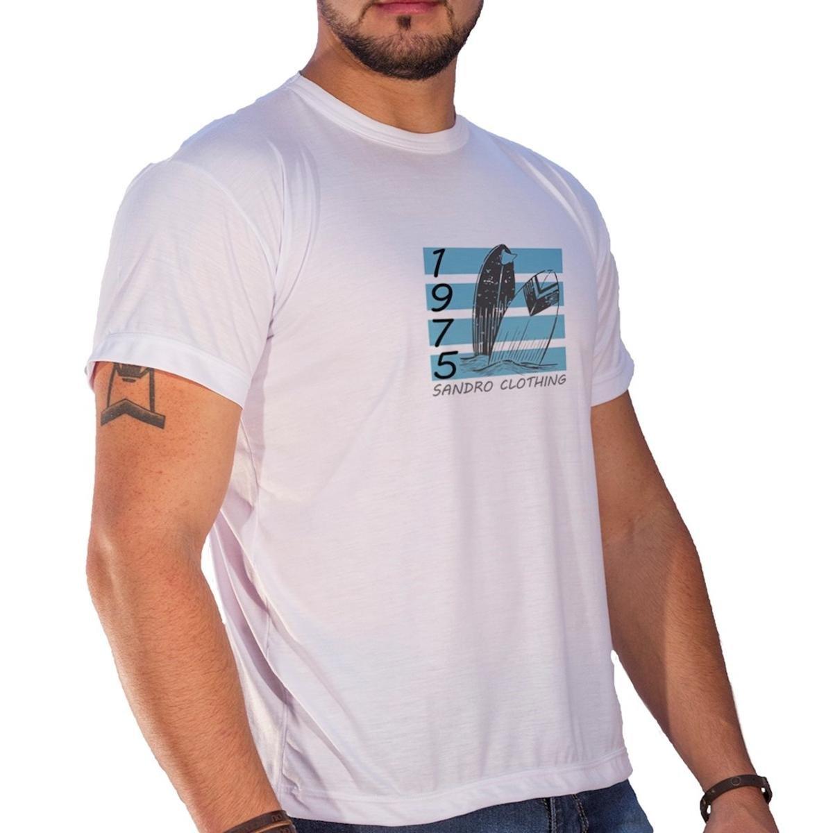 Camiseta Sandro & Co. Havai Masculina - Branco