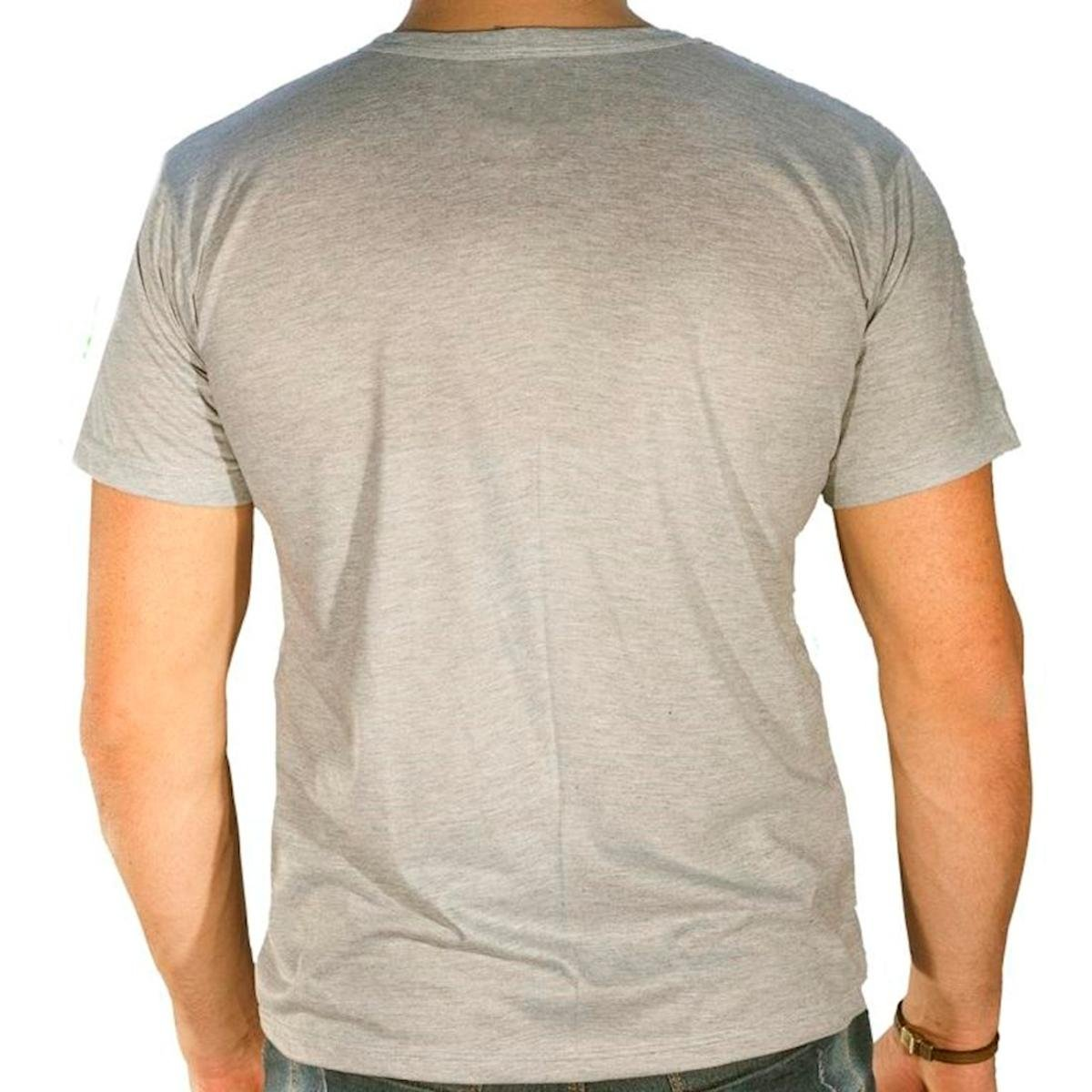 Camiseta Sandro & Co. Trakin Masculina - Cinza