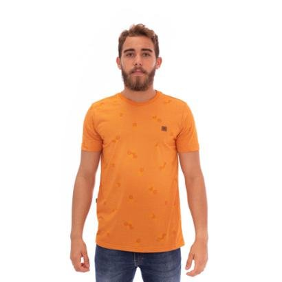 Camiseta Slim Abacaxi Naranja Masculina