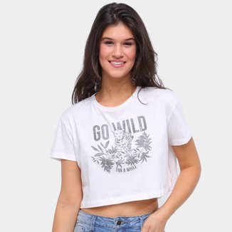 Camiseta Sommer Cropped Go Will Feminina