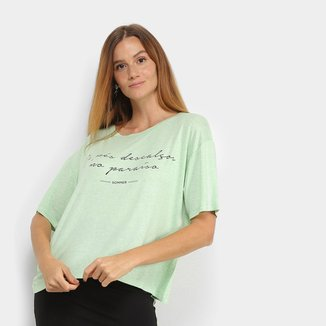 Camiseta Sommer Linho De Pés Descalços No Paraíso Feminina