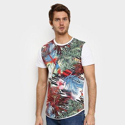 Camiseta Squadrow Long Arara Masculina - Zattini BR