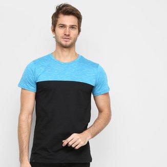 Camiseta Squadrow Recorte Mescla Masculina