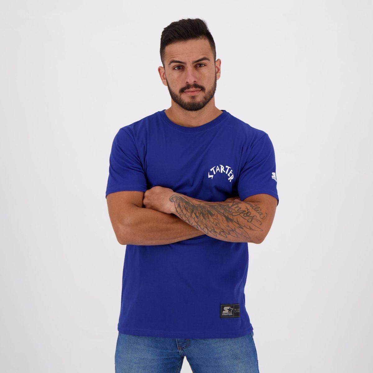 Camiseta Starter Nitro Estampada Masculina - Azul