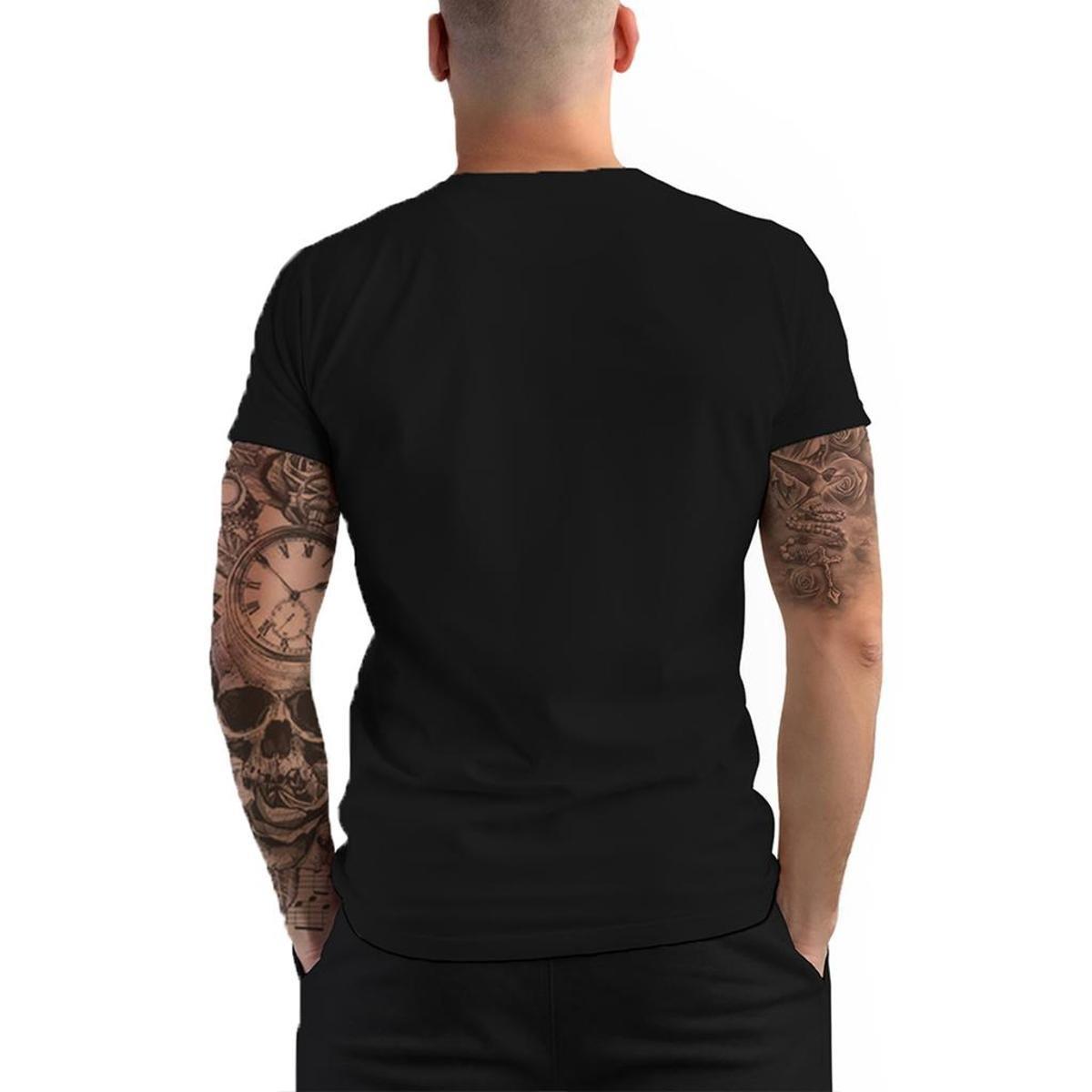 Camiseta Stompy Psy Rave Trip Masculina - Preto
