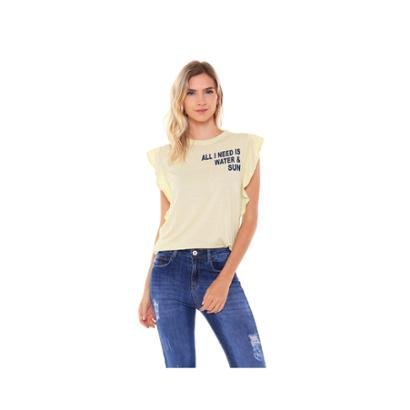 Camiseta Studio 21 Fashion Basic Babados Feminina