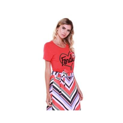 Camiseta Studio 21 Fashion Fendi Bordada Feminina