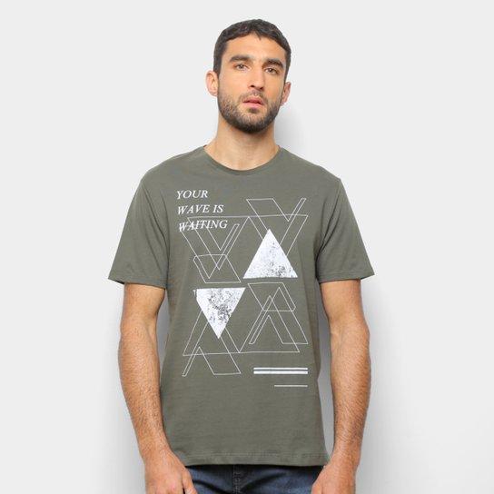 Camiseta Suburban Estampada Manga Curta Masculina - Verde Militar