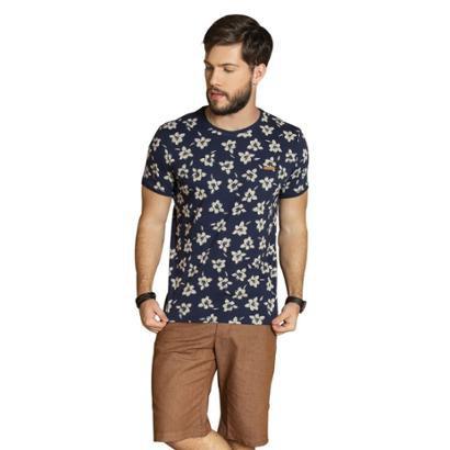 Camiseta Surf.com Flores Masculina
