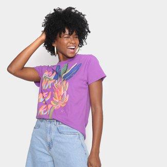 Camiseta T-shirt Farm Fit Bananeira Feminina