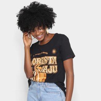 Camiseta T-shirt Farm Floresta De Caju Feminina