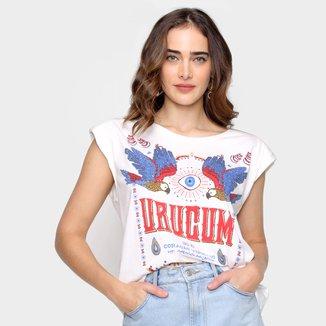 Camiseta T-shirt Farm Urucum Ombreira Feminina