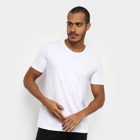 Camiseta T-Shirt Hering Slim Básica Masculina - Branco