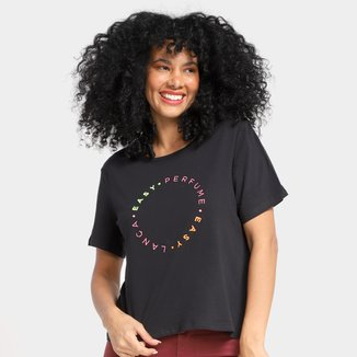 Camiseta T-Shirt Lança Perfume Easy Bordada Feminina