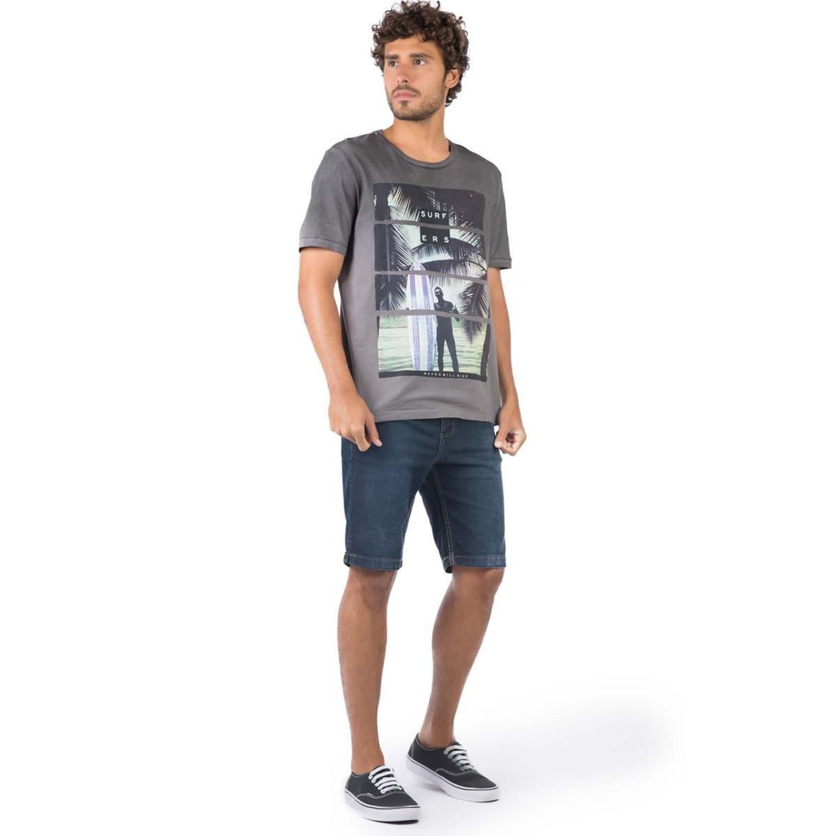 Camiseta Taco Spray Surfers Masculina - Cinza PEv4L
