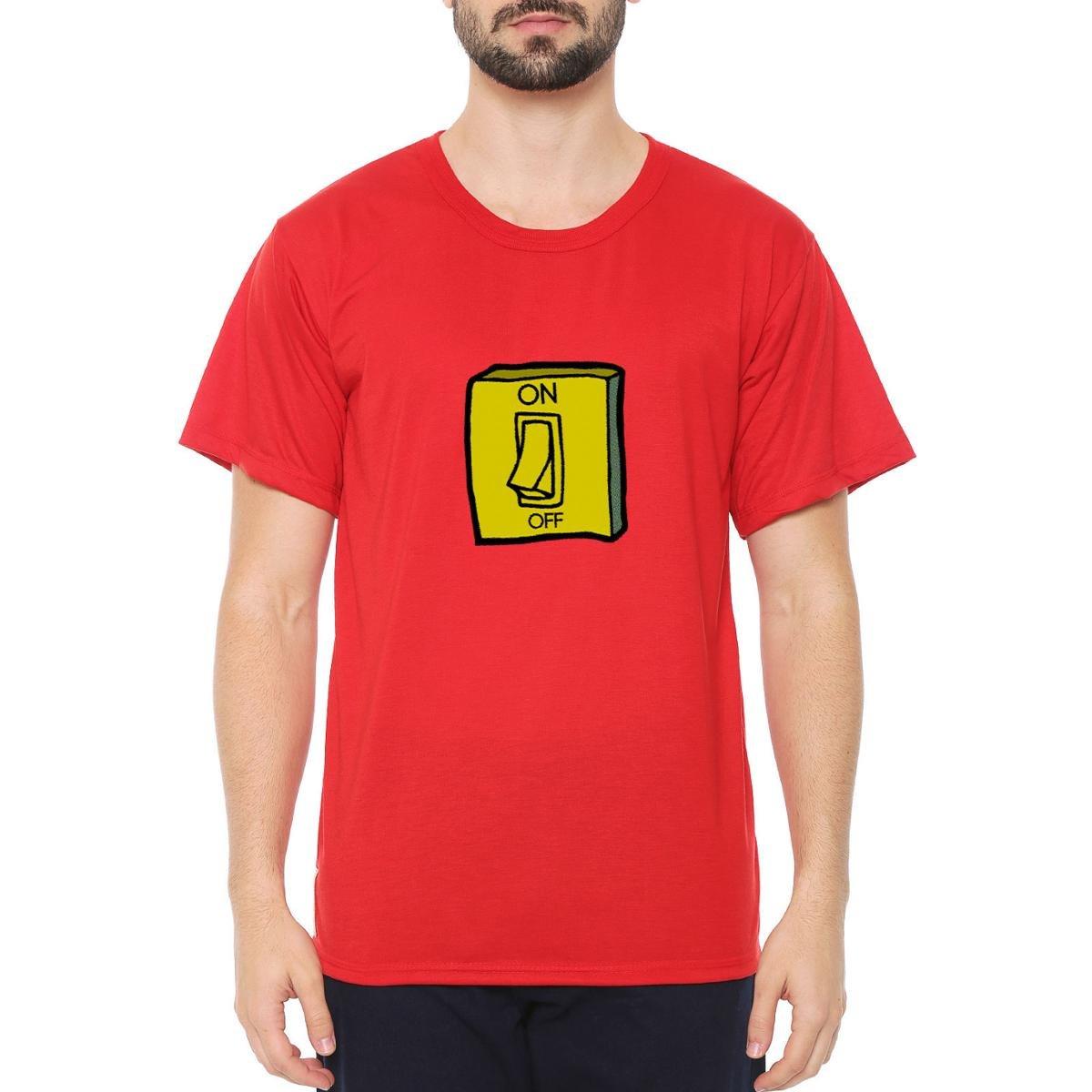 Camiseta Talismã Store Eco Canyon Interruptor Masculina - Vermelho